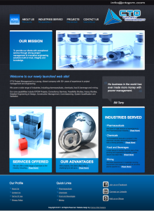 CTQ Project Management Website - Design by Intense Web Design Harrogate