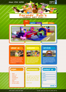 Farmer Funs Soft Play Website - Design by Intense Web Design Harrogate
