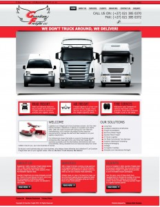 Guardian Freight Website - Design by Intense Web Design Harrogate
