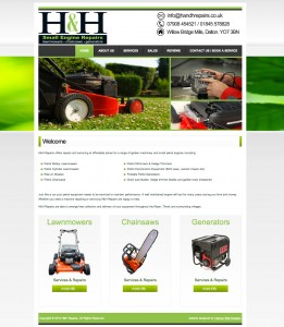 H & H Repairs Website - Design by Intense Web Design Harrogate