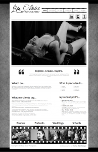 Lisa Olivier Photography Website - Design by Intense Web Design Harrogate