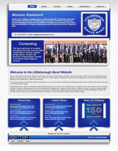 Littleborough Band Website - Design by Intense Web Design Harrogate