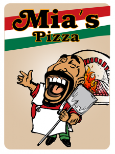 Mia Pizza Logo - Design by Intense Web Design Harrogate