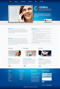 Online Secretary Website - Design by Intense Web Design Harrogate