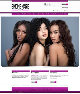 Simone Marie Hair Website - Design by Intense Web Design Harrogate